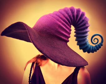 "Costume Hat. ""Galaxy"" Witch Hat. Wizard Hat. Fantasy Hat. Cosplay Hat. LARP."