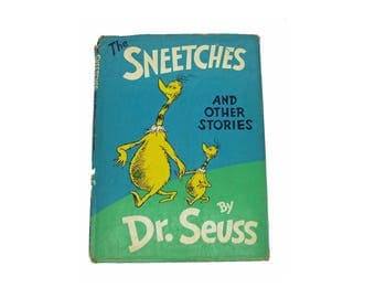 Vintage 1961 Sneetches And Other Stories Dr Seuss First Edition Hard Cover Hardback with Original Dust Jacket
