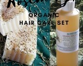 LIMITED EDITION Organic Rosemary Hair Care Set , eco friendly shampoo, scalp clarifying, hair growth , dandruff , rosemary essential oil