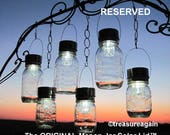 12 Mason Jar Solar Lids, the Original Solar Lid design by Treasureagain, Reserved