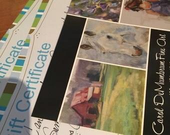Father's Day, Gift Certificate, Gift card, Portrait Commission, Children's Portrait, Dog Portrait, Pet portrait, Vacation portrait, Gift
