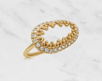 Gold Cava Ring