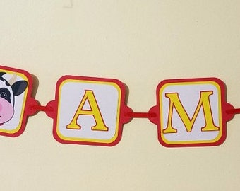 I Am 1 Birthday Banner, Farm Themed Birthday Banner, First Birthday Banner