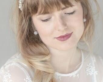 Pearl headpiece, Pearl bridal hair vine, Pearl Bridal headpiece, Wedding headpiece, Pearl hair vine, pearl halo, Wedding hair accessories