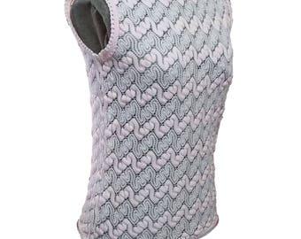 Vintage Sweater Light Pastel Pink Knit Sleeveless Top 50's Mid Century Fashion Baar & Beards Japan Small