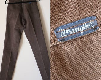 High Waisted Wranglers | 7 8 9 ultra high waist light brown country western hipster kitsch straight leg vintage 80s womens denim jeans small