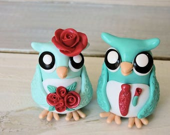 Owl Couple Wedding Cake Topper