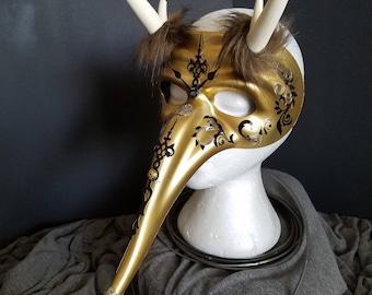 Tick Tock Tempter - gold horned mas