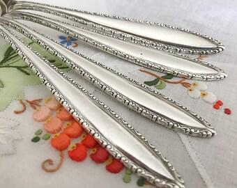 4 Sterling Silver Dinner Forks Modern Silverware Sterling Silver Flatware