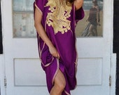 10 OFF Summer SALE  Royal Purple with Gold Marrakech Resort Caftan Kaftan beach cover ups resortwearloungewear maxi dresses birthd