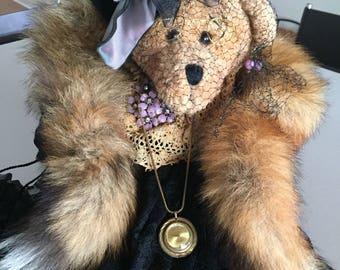 Teddy Bear Artist Teddy Bear/ Victorian Style Dressed  Bear By Gatormom13