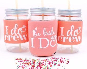 Bachelorette Party Cups,  Coole, I Do Crew,  Bachelorette Favors, Bridesmaid Cups, Coral