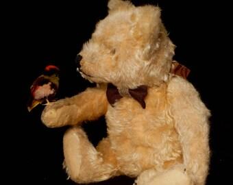 "Vintage Early 1950s Original Steiff Gold Teddy Bear German Steiff 15"""