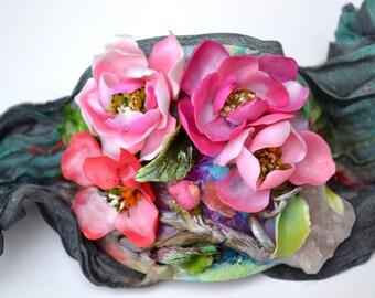 Spring Flowers Song - Bracelet - Statement Adjustable One of a Kind Bracelet