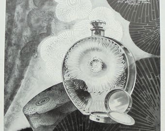 1920's Genuine French Roger & Gallet Perfume Advert - Pavots D'Argent