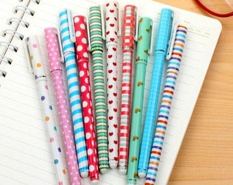 Single gel pens - pick a favorite! Cute colors for kawaii planner scrapbook journal craft stocking stuffer swap mail stationery - Lillibon