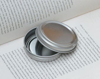 50ml metal tins, blank round tin boxes, press to open tin box, small diy storange box, 6 tin box
