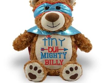 stuffed animal, Personalized Stuffed animal,, 1-2 day ship, personalized, CHD animal, Personalized heart warrior