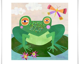 Spotted Frog // Giclee Art Print // Kids Room