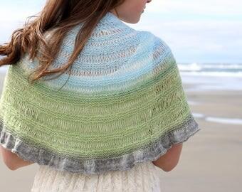 Coastal Shawl | PDF knitting pattern