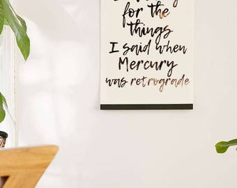 Mercury Retrograde Printable Art - I'm Sorry