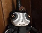 L'Art populaire Halloween sorcière Doll - poupée d'Art sorcière squelette