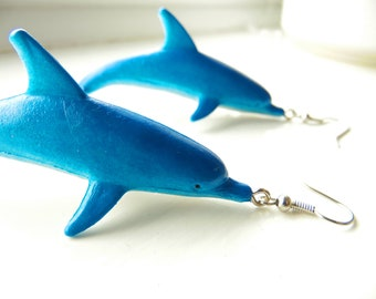 Upcycled Dolphin Earrings
