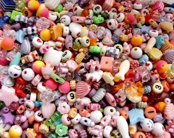 Assorted Colorful Acrylic Bead Mix, 6 oz bag
