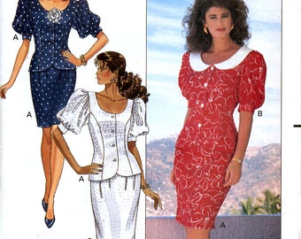 Butterick 6314 Sewing Pattern for Misses' / Misses' Petite Top and Skirt - Uncut - Size 14, 16, 18