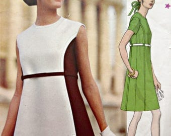 Vintage Vogue 1930 Sewing Pattern, Simonetta Dress Pattern, Vogue Couturier, 1960s Dress Pattern, Bust 38, Mod Dress Pattern, 60s Sewing