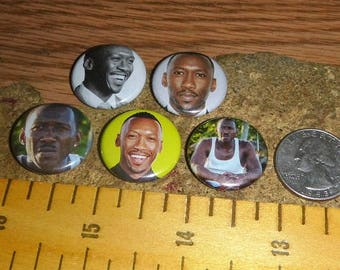MAHERSHALA ALI 5 Buttons one inch pinback badge set