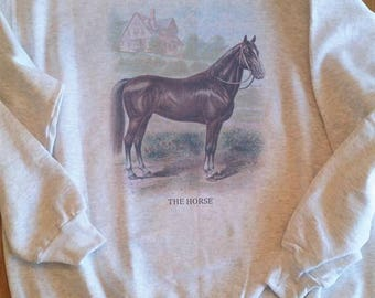 Vintage horse, Horse sweatshirt, Horse art print, Horse vintage ephemera