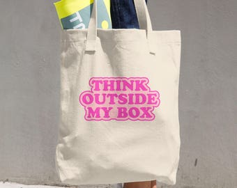 Cotton Tote Bag Feminist Activism Pink Made in USA