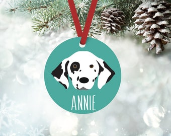 Dalmation ornament, personalized Dalmation Christmas ornament, custom name or text, Dalmation Christmas gift