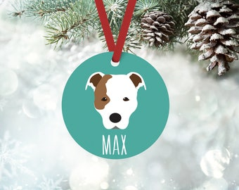Personalized Pit Bull Christmas ornament, custom name, Pit Bull ornament, Christmas gift
