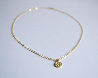 Tiny Gold Yin Yang Necklace