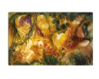 Wunderschöne Landschaft, Malerei In Satten Farben, Wohnliche Kunst,  Bernstein Zimmer Dekor, Perelandra