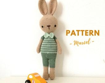 Marcel | Crochet Bunny, Crochet Pattern, Crochet Bunny Pattern, Amigurumi Pattern, Amigurumi Bunny, Amigurumi Bunny Pattern, PDF