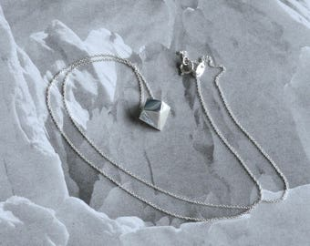"Iceberg Pendant (smaller, melting) - ""Ode to Ice"" - Sterling Silver - Climate Change, Environmental Jewelry"