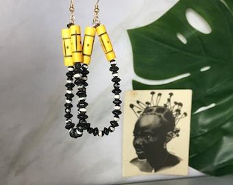 Ekundayo tribal earrings  African Wedding Ethnic Jewelry Tribal Jewelry  Boho Jewelry - Bespoke Jewelry - African Earrings - African Jewelry