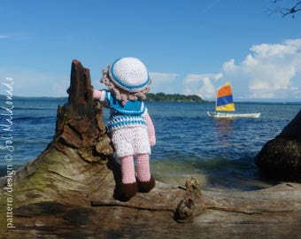 Amigurumi Crochet Pattern Doll -  Sailor Boy Toy PDF  - Instant Download