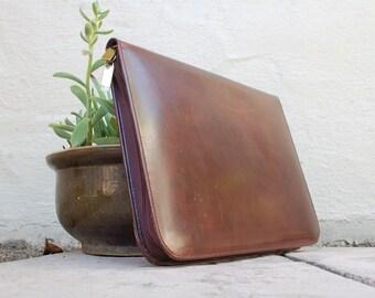 Vintage Classic Wilsons Leather Pelle Studio Italian Leather Organizer Portfolio Briefcase Leather Professional Student Lawyer Brief Classic