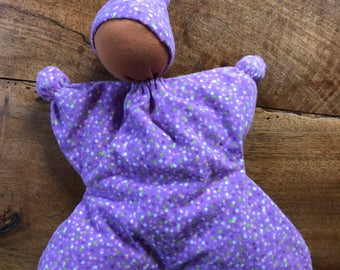 Purple Polka Dot Butterfly Doll With Dark Skin