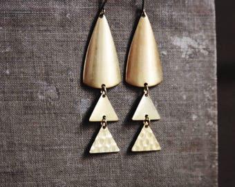 modern triangle geometric earrings