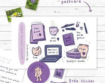 Postcard : Introvert