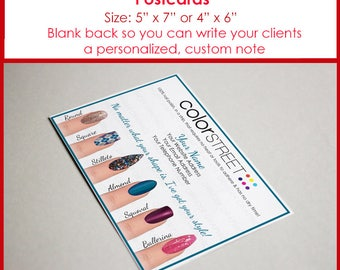 Color Street Postcards Personalized 5x7 or 4x6 Digital Download, Marketing Material, Twosie Card, Cards, ColorStreet Nail Polish Strips