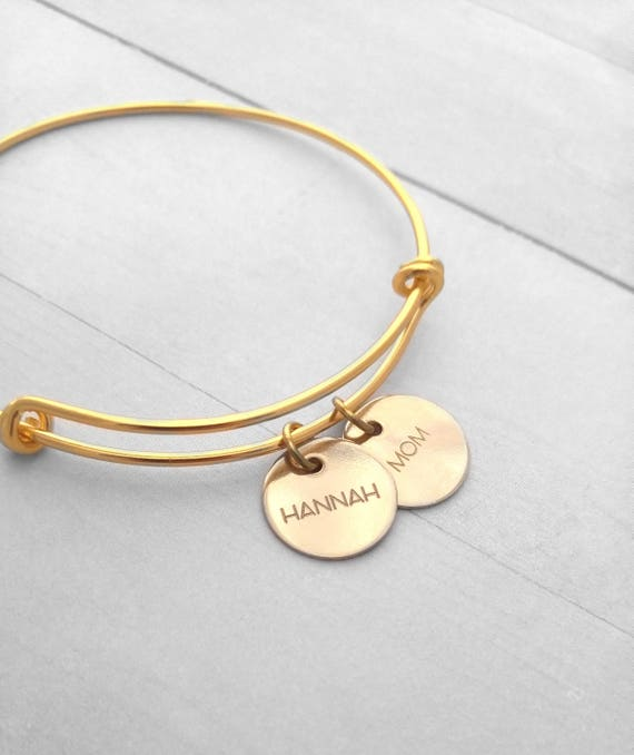 personalized gold bracelet personalized gold bangle thin