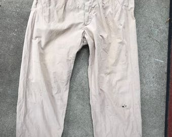 Vintage Hercules Mens Sanforized Button Fly Poplin Pants No Tag