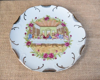 The Last Supper collectible plate, religious collectibles, religious collectible plate,