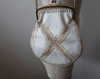 Vintage Boho 1960s-70s Patchwork Leather Shoulder Bag/Clutch